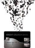 kortkrediteringsdollar Arkivfoto