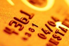 kortkrediteringsguld arkivfoto
