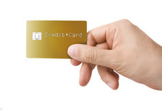 kortkrediteringshand Royaltyfri Bild