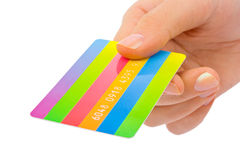 kortkrediteringshand Arkivfoton