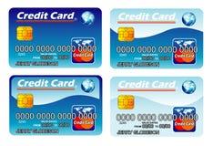 kortkrediteringsmall Arkivbild