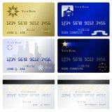 kortkrediteringsmallar vektor illustrationer