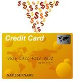 kortkrediteringspengar Arkivbild