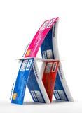 kortkrediteringspyramid Royaltyfria Bilder