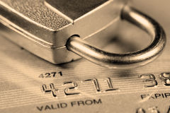 kortkrediteringssäkerhet royaltyfria bilder