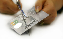 kortkrediteringsskuld royaltyfria foton