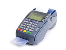 kortkrediteringsterminal Arkivbild