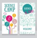 kortmall för vetenskapsläger Arkivfoto
