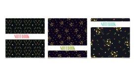 Kortmallar med blommabakgrundsillustrationen Arkivbilder