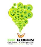 kortmiljön går green royaltyfri illustrationer