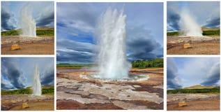 Kortminne - geyser Strokkur Royaltyfria Bilder