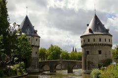Kortrijk Kontrollturm-Brücke Belgien Stockbild