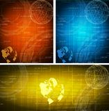 kortset vektor illustrationer