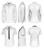 Kortslutning för man` s och lång muff skjorta Arkivfoton