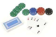 Kortspel och dobbleri Royaltyfria Bilder