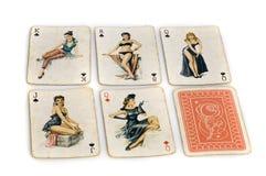 kortspel ut play Royaltyfri Bild