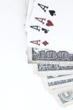 kortspelrum Arkivfoto