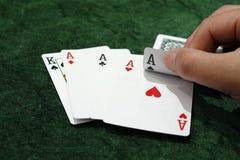 kortspelrum Arkivfoton