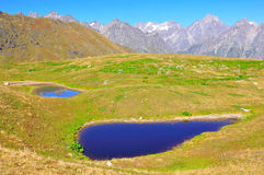Koruldi湖, Svaneti佐治亚 免版税库存照片