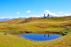 Koruldi Lakes, Svaneti Georgia Arkivfoton