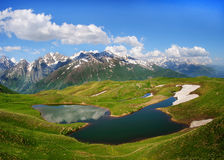 Koruldi mountain lake, Svaneti, Georgia. Stock Image