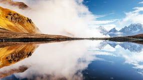 Koruldi mountain lake. Upper Svaneti, Georgia, Europe. Caucasus mountains. Royalty Free Stock Images