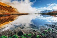 Koruldi mountain lake. Upper Svaneti, Georgia, Europe. Caucasus Royalty Free Stock Photo