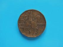 20 korunor mynt, Tjeckien Arkivfoton