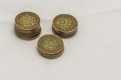 Koruny ceske. Various Czech money on the white background Stock Photo