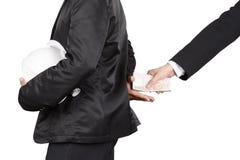 Korupci polisy problemy społeczeństwo i gospodarka zdjęcie royalty free