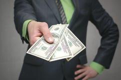 Korupcja łapówka Pieniężna pomoc Pożyczka Z Banku obrazy royalty free