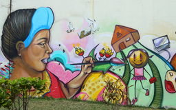 korupcja graffiti, Salwador Obraz Royalty Free