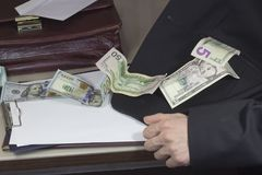 Korupcja i łapówkarstwo fotografia royalty free