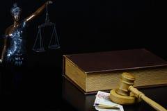 Korupcja w sprawiedliwości Fotografia Stock