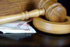 Korupcja w sprawiedliwości Obrazy Royalty Free