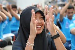 korupcja wiec w Bangkok Obraz Royalty Free