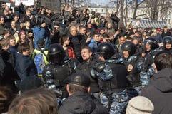 Korupcja wiec w Moskwa Marzec 26, 2017 obraz royalty free