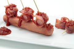 Korv och bacon Royaltyfria Foton