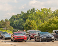 Korvet, Mustang en Grand Prix, Woodward-Droomcruise Royalty-vrije Stock Fotografie