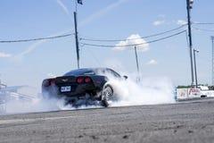 Korvette-Rauchshow stockfotografie