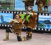 Koryak传统假日海洋动物封印 库存照片