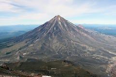 Koryaksky火山。堪察加 免版税库存照片