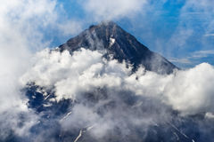 Koryaksky volcano on Kamchatka royalty free stock image