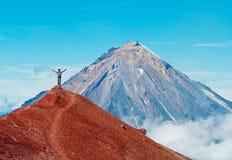 Koryaksky volcano on Kamchatka Peninsula, Russia. Royalty Free Stock Photography