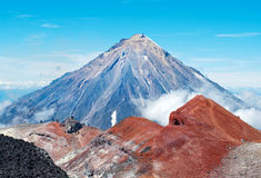 Koryaksky volcano on Kamchatka Peninsula, Russia. Stock Photography
