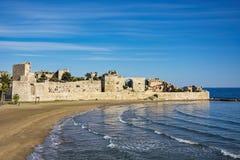 Korykos slott (Mersin, Turkiet) Arkivfoton