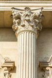 Koryncki kolumny zakończenie Up Obraz Royalty Free