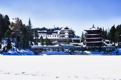 Koryncki Winterhotel Obraz Royalty Free