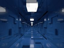 korytarz futurystyczny Obrazy Stock