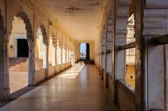 Korytarz wśrodku Mehrangarh fortu, Jodhpur Fotografia Royalty Free